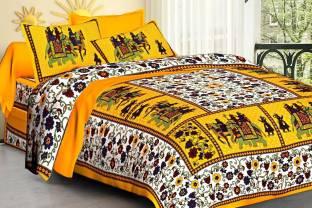 jaipuri story 160 TC Cotton Double Jaipuri Prints Bedsheet