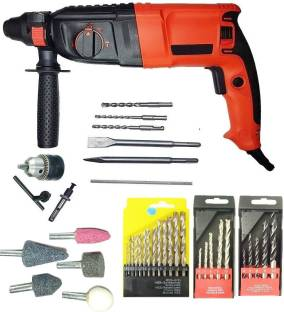 INDITRUST Rotary Hammer 900w 26mm hammer drill with SDS drill bits and accessories 5pc masonry and 13p...