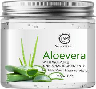 Nuerma Science Natural Aloe Vera Gel Great for Face, Sunburn Relief, Acne, Razor Bumps, Psoriasis, Eczema, Dry Skin Hydration