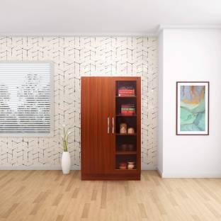 The Collectori Engineered Wood Semi Open Book Shelf Finish Color   Dark Brown