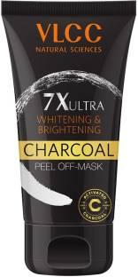 VLCC 7X Ultra Whitening & Brightening Charcoal Peel Off Mask (100gm)