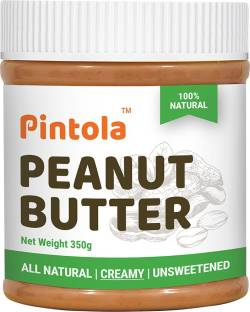 Pintola All Natural Unsweetened Peanut Butter (Creamy) 350 g
