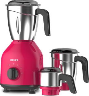 PHILIPS Daily Collection HL7756/03 750 W Mixer Grinder (3 Jars, Strawberry, Black)
