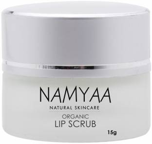 Namyaa Organic Lip Scrub for Smooth, Soft & Tempting Lips with Coconut, Glycerin and Other Natural Ingredients Scrub