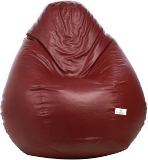 Star XXL Teardrop Bean Bag With Bean Filling Maroon