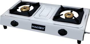 MACIZO Silver Stainless Steel Manual Gas Stove