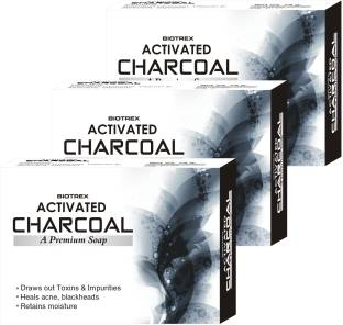 Biotrex Activated Charcoal - A Premium Soap, Pack of 3