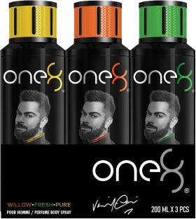one8 by Virat Kohli Deos( Willow + Fresh + Pure) Perfume Body Spray  -  For Men