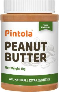 Pintola ALL Natural Peanut Butter(EXTRA Crunchy)(Unsweetened, Non-Gmo, Gluten Free, Vegan) 1 kg