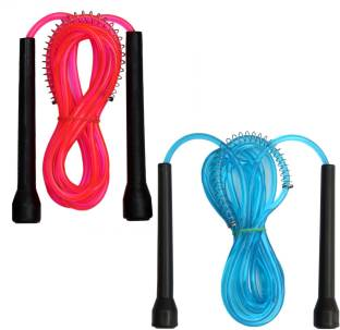 Resh Pack of 2 pcs (Pink / Blue) Freestyle Skipping Rope