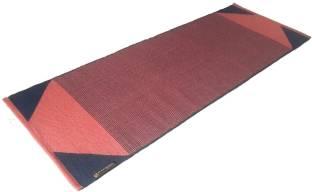 ASE YOGA INDIA Cotton Yoga Mat EnvironMent Friendly Red 6 mm Yoga Mat