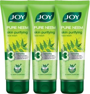 Joy Pure Neem Purifying (Pack of 3 x 100 ml) Face Wash