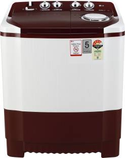 LG 7 kg 4 Star Rating Semi Automatic Top Load White, Maroon