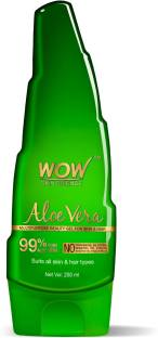 WOW SKIN SCIENCE 99% Pure Aloe Vera Gel - Ultimate for Skin and Hair - No Parabens, Silicones, Mineral Oil, Color, Synthetic Fragrance - 250 mL