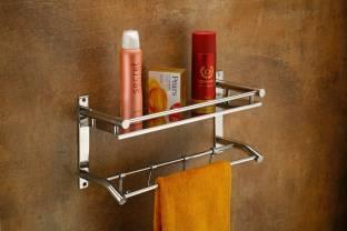 Frap High Grade 304 Stainless Steel Bathroom Shelf/Kitchen Shelf/Bathroom Shelf and Rack/Bathroom Accessories Silver Finish Stainless Steel Wall Shelf
