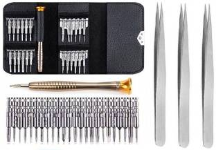wroughton 25 in 1 Precision Screwdriver Set Multi Pocket Repair Tool Kit for Mobiles|Laptops|Electroni...
