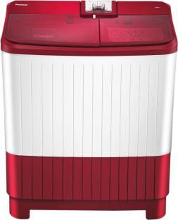 Panasonic 8 kg Semi Automatic Top Load Red, White