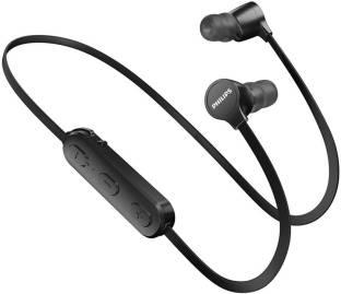 Philips Black Earphones with Mic Bluetooth Headset