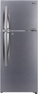 LG 260 L Frost Free Double Door 2 Star Refrigerator (GL S292RDSY, Dazzle Steel)