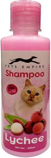 PETS EMPIRE Naturally Organic Body Shampoo for Pets,Pack of 1 (Lychee, 200ML) Conditioning, Anti-microbial, Anti-fungal, Anti-parasitic, Flea and Tick, Anti-dandruff, Allergy Relief, Whitening and Color Enhancing, Anti-itching, Hypoallergenic Lychee Cat Shampoo
