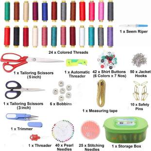 Macaw Sewing Thread and Tailoring Accessories Storage Box - 15th Item Include Sewing Kit