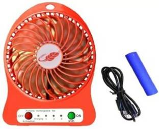 YORA Mini Portable USB Rechargeable 3 Speed Fan Colors May Vary multicolored  faf564 USB Fan