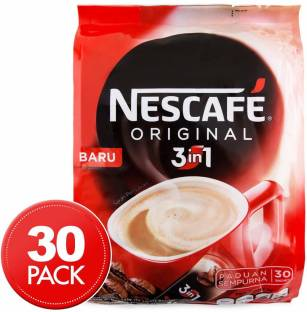 Nescafe 3 in 1 Original Soluble Coffee Beverage, 30 Sachets Bag Instant Coffee