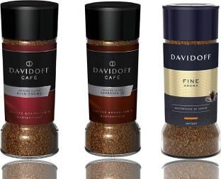 Davidoff Cafe Rich Aroma, Fine Aroma & Espresso 57 Instant Coffee, 3 Jars Bundle 3.5Oz/100G Each Instant Coffee