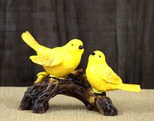 Craft Junction Handpainted Two Love Birds Decorative Decorative Showpiece  -  12 cm