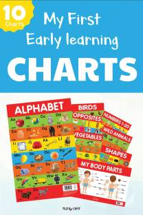 Miss & Chief My First Early Learning Charts-pack of 10 Posters