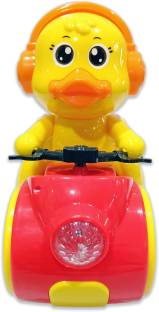 Miss & Chief Space Duck 350 degree Bump and Go toy with Light and Music