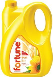 Fortune Sunlite Refined Sunflower Oil Can