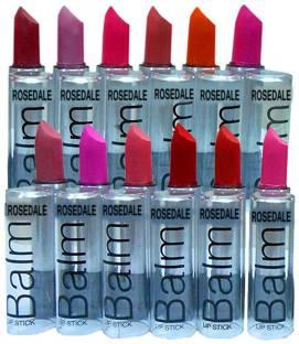 ads A.D.S Combo Balm Matte Lipstick - Set Of 12 (Multicolor, 3.5 g)