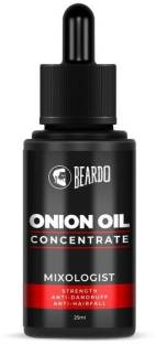 BEARDO Onion Oil Concentrate for Hair growth, beard Growth and Hair Fall Control (25 ml) | Natural | Non-sticky, Non-greasy | Controls Hairfall, Promotes Hair Growth Hair Oil