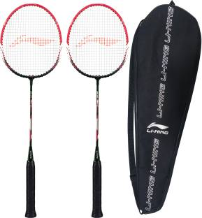 LI-NING XP-60-IV ( strung ) - Pack of 2 With 1 full cover Black, Pink Strung Badminton Racquet