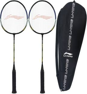 LI-NING XP-70-IV ( strung ) - Pack of 2 With 1 full cover Black, Gold Strung Badminton Racquet