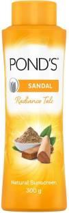 PONDS Sandal Radiance Talcum Powder Natural Sunscreen
