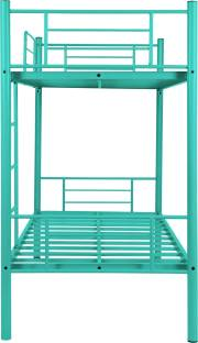 FurnitureKraft Crossett Metal Bunk Bed   Finish Color   Turquoise  FurnitureKraft Beds