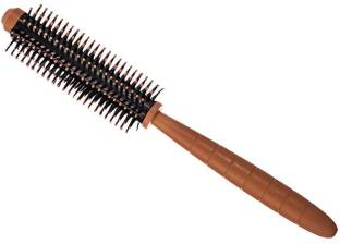 YOUNGMONK Hair Curling Roller Round Comb Brush (Multicolor)