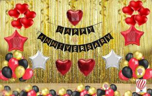 PartyballoonsHK Multicolor Anniversary Decoration Combo