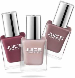 Juice Nail Paint Combo 27 Sun Kissed, Dusty Coral, Camel
