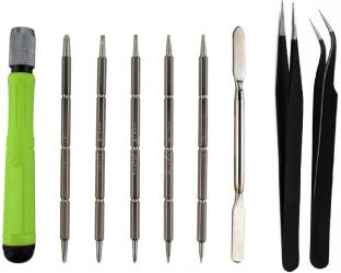 wroughton 12 in 1 Screwdriver Mobile repairing Tools Set for MacBook Devices With Set of 2 ESD Non-Mag...