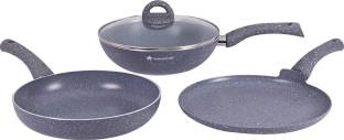Wonderchef Granite Set Induction Bottom Cookware Set   Aluminium, 3   Piece