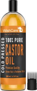 WishCare Premium Cold Pressed Castor Oil For Hair and Skin Hair Oil
