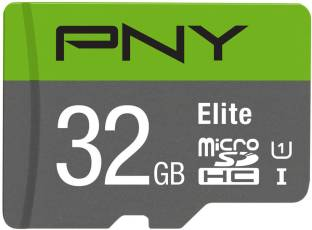 PNY Elite 32 MicroSDHC UHS Class 1 85 Mbps  Memory Card