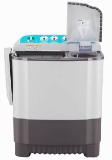 LG 6 kg With Collar Scrubber Semi Automatic Top Load Black, White