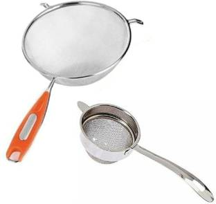 batwada export juice stainer with tea stainer Stainless Steel Soup & Juice Strainer/Liquid Filter with tea strainer pack of 2 Kitchen Tool Set