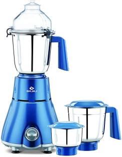 BAJAJ Beryl 750W Mixer Grinder 240 Mixer Grinder (3 Jars, Persian Blue)