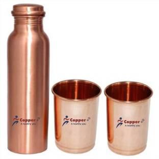 Copper + COPPER BOTTLE GIFT SET 1000 ml Bottle