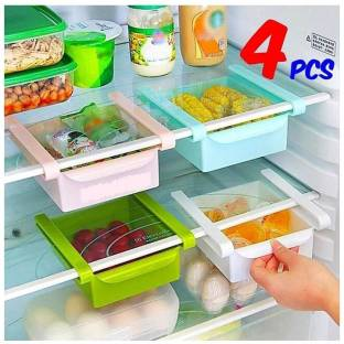 HUMBLE KART 04 pcs Unbreakable 100% ABS plastic Fridge Door Shelf